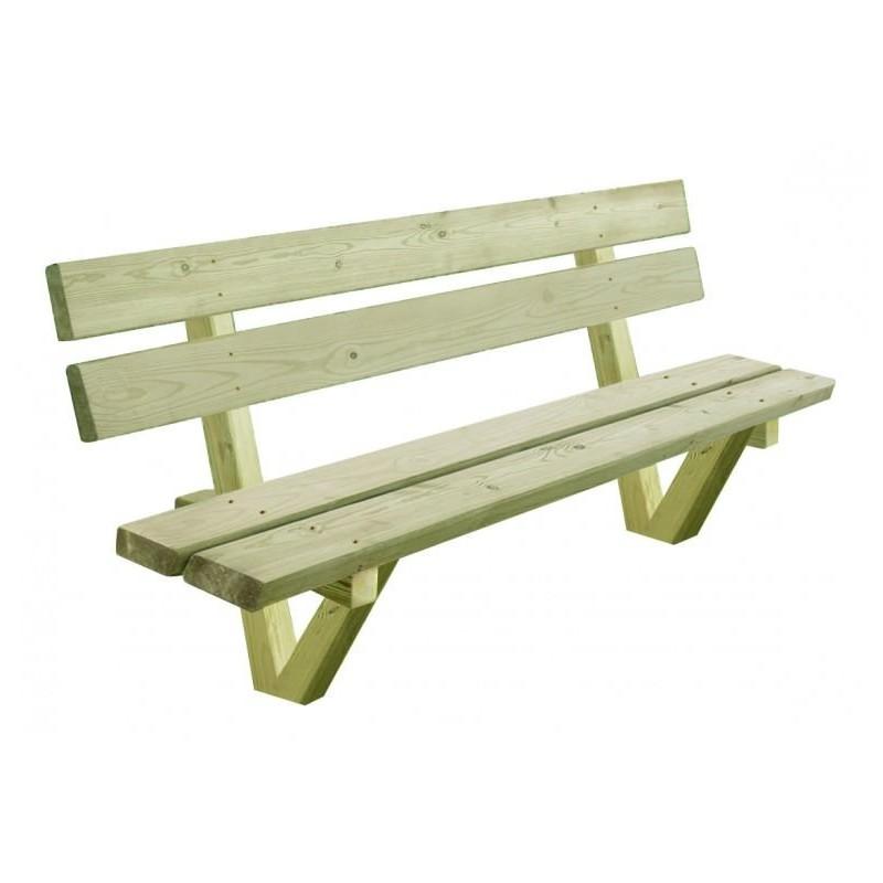 banc en bois trait banc autoclave banc en bois trait pour aire de pique nique cofradis. Black Bedroom Furniture Sets. Home Design Ideas