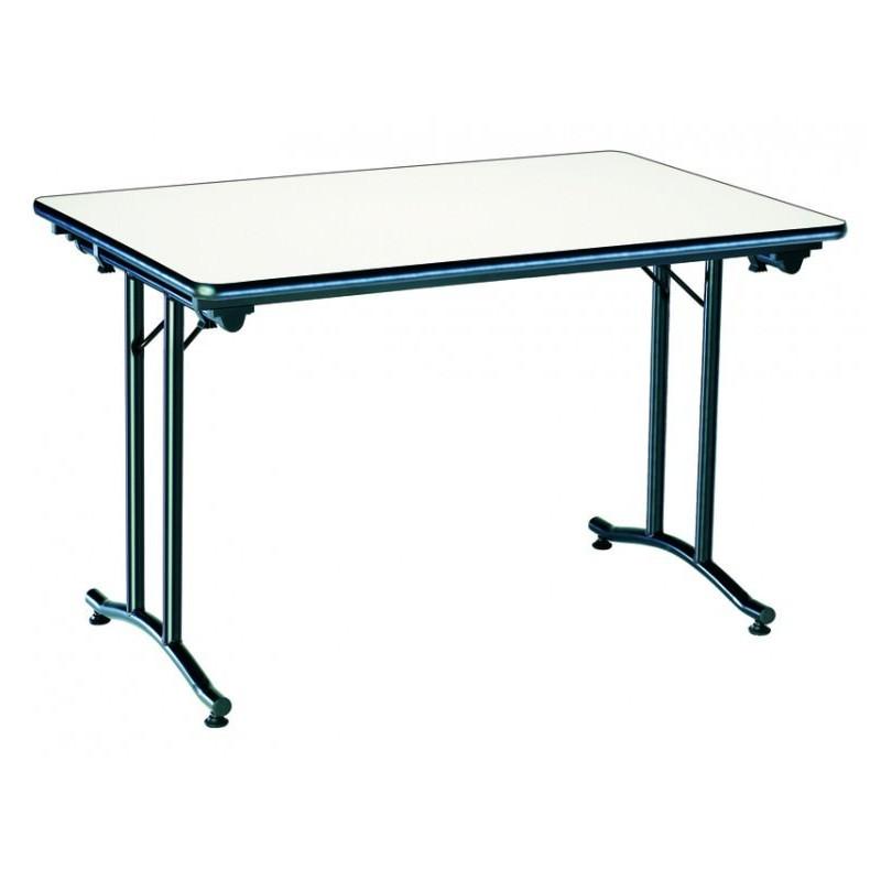 table de collectivit pliante rectangulaire table de collectivit pliante en m lamin. Black Bedroom Furniture Sets. Home Design Ideas