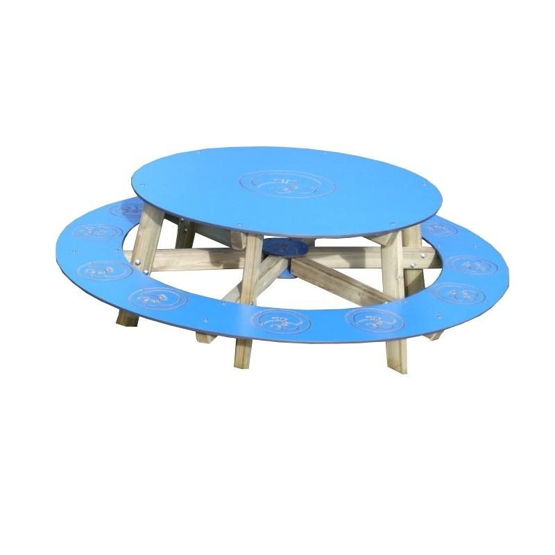 table de pique nique enfant en bois table de pique nique ronde en bois. Black Bedroom Furniture Sets. Home Design Ideas