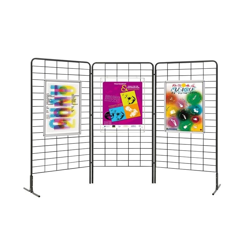 grille d 39 exposition noire panneau d 39 exposition. Black Bedroom Furniture Sets. Home Design Ideas
