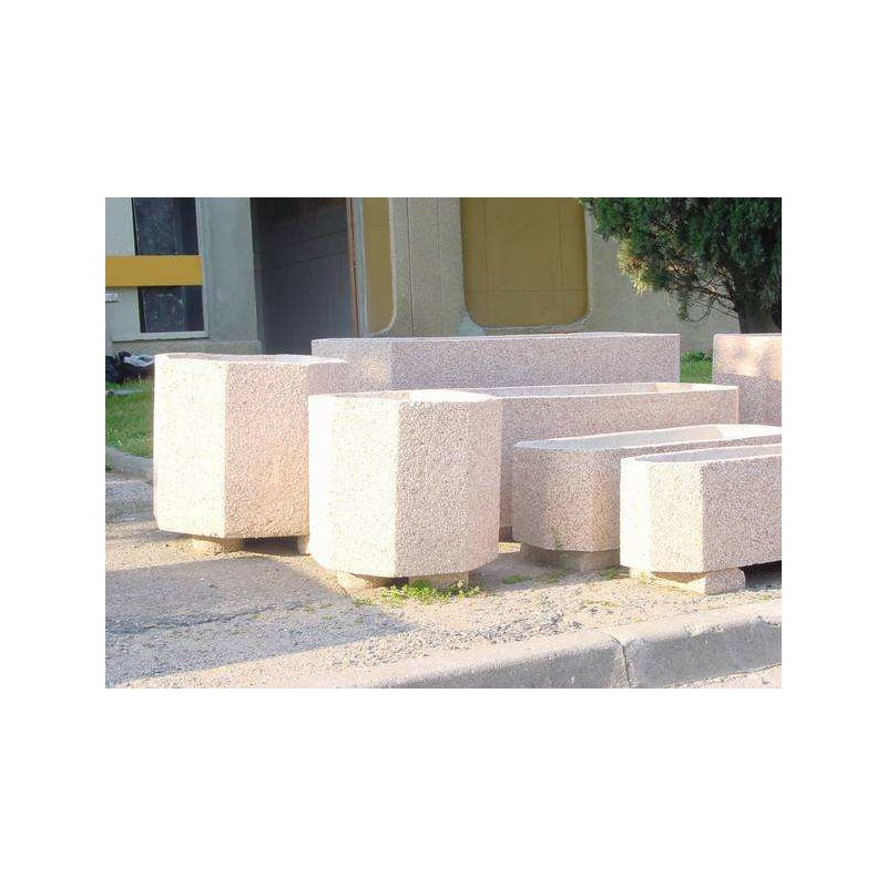 Bac fleurs en b ton octogonal en 6 dimensions bac - Jardiniere en beton ...