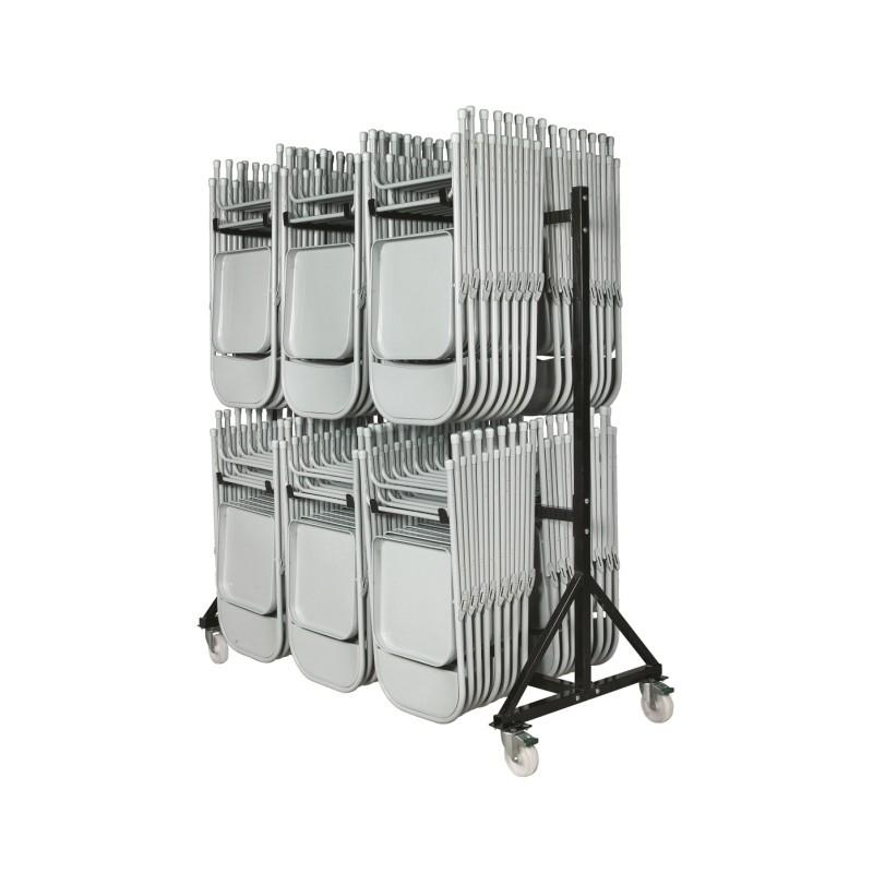 chariot chaise pliante rangement pour chaises pliantes pour collectivit s cofradis. Black Bedroom Furniture Sets. Home Design Ideas