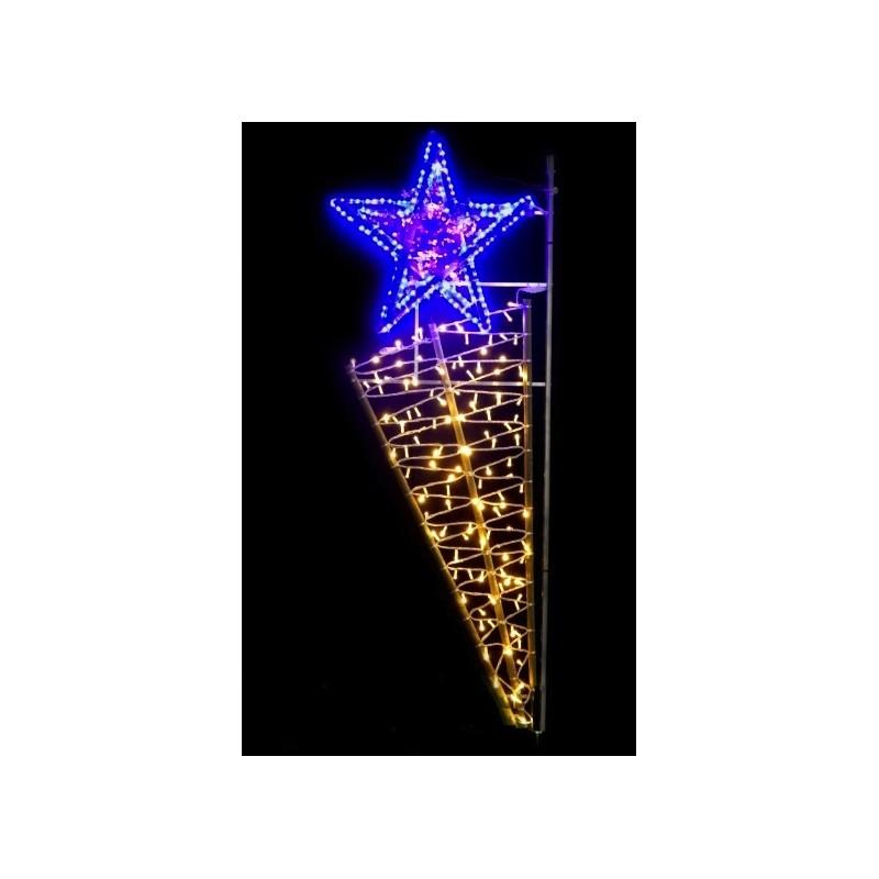 Achat d 39 illumination de no l pour les communes for Panneau solaire pour decoration de noel
