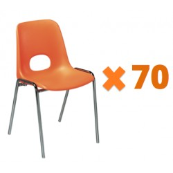 Lot promotionnel de 70 chaises Bologne M4 non-assembles