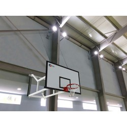 But de basket a accrocher au mur. Ajustable et rabattable