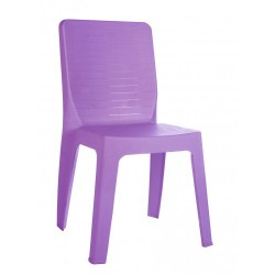 Chaise polypro empilable Clara coloris violet