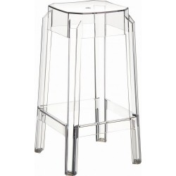 TABOURET BAREFA EMPILABLE EN POLYCARBONATE TRANSPARENT