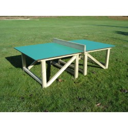 table de ping pong plateau en stratifié compact