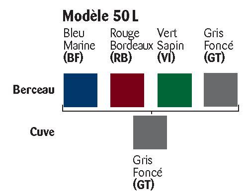 Les différents coloris disponibles pour la corbeille en plastique Élégante - Cofradis Collectivités