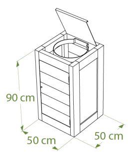 Dimensions de la poubelle de propreté en plastique recyclé - Cofradis Collectivités