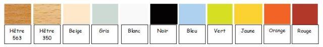 Le nuancier des coloris disponibles pour le mélaminés - Cofradis Collectivités