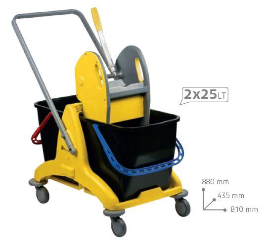 dimensions du chariot de nettoyage pour collectivités - cofradis collectivités