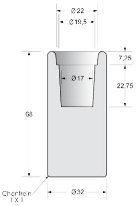 dimensions du cendrier en béton extérieur - cofradis collectivités