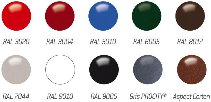 Finitions et coloris des matériaux de la table en compact astana - Cofradis Collectivité