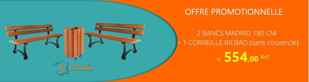 mobilier urbain en promotion - cofradis collectivités