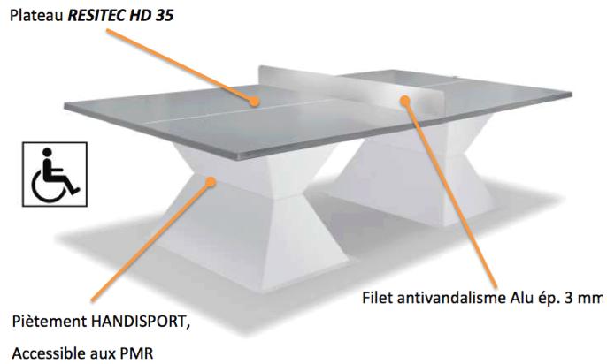 Les points forts de la table ping pong Diabolo chez Cofradis Collectivités