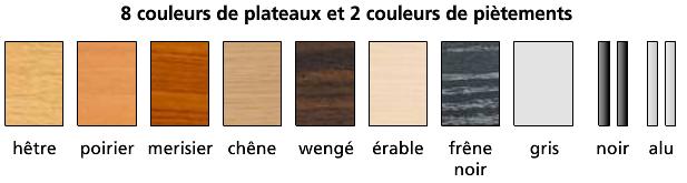 coloris de la table pliante de formation - cofradis collectivités