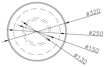 diamètre du cendrier extérieur en béton FUJI - cofradis collectivités
