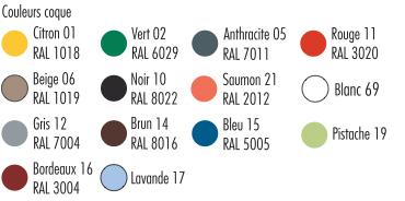 coloris disponibles chaise bologne- cofradis collectivités