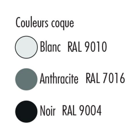 Coloris disponibles pour la coque de la chaise de collectivités empilable LARA - Cofradis Collectivités