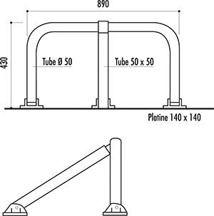 dimensions de la barrière de parking articulée - cofradis collectivités