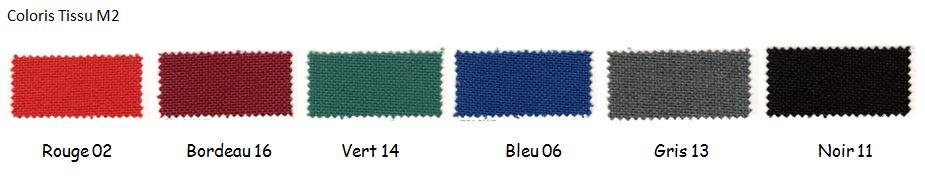 Coloris du nuancier du tissu M2 - Cofradis Collectivités